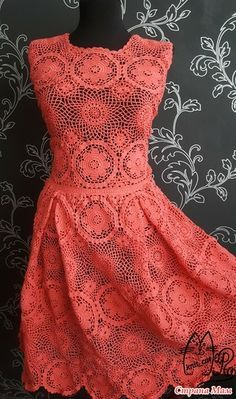 Платье Amore крючком из мотивов