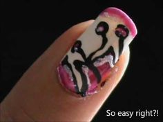 Sexy and Suave  EASY Nail Designs for Beginners- nail design short nails...