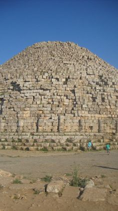 Roman ruins in Tipasa / Tipaza. This is propably a tomb. It looks little like a pyramide!
