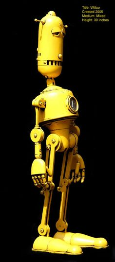 A cheeky Steampunk Robots from Lawrence Northey.-A cheeky Steampunk Robots from Lawrence Northey. A cheeky Steampunk Robots from Lawrence Northey. Arte Robot, Robot Art, Toy Art, Nono Le Petit Robot, Metal Robot, Grand Art, Sculpture Metal, Cool Robots, Marionette