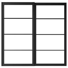 PAX Pair of sliding door frames & rail, black, 78 Limited Warranty. Read about the terms in the Limited Warranty brochure.