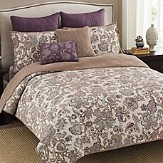 image of Shelby Reversible Quilt in Plum