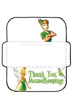 My own MouseKeeping envelope, based on a design found here… Disney Day, Disney Travel, Run Disney, Disney Tips, Disney Cruise, Disney Magic, Disney Parks, Walt Disney, Disney World Planning
