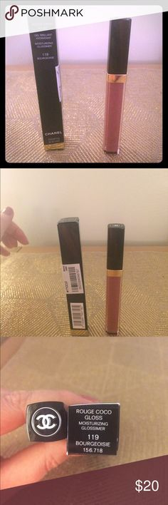 Chanel rouge coco gloss new Brand new authentic, Chanel rouge coco gloss in 119 bourgeoisie CHANEL Makeup Lip Balm & Gloss