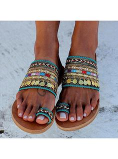 Tendance Sandales : Greek Leather Sandals decorated women shoes Toe ring sandals for women decorated sandals Genie Handmade to order Denim Sandals, Toe Ring Sandals, Slipper Sandals, Leather Sandals, Flat Sandals, Greek Sandals, Beach Sandals, Gladiator Sandals, Summer Slippers