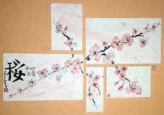 Polidíptico Cerezo en Flor