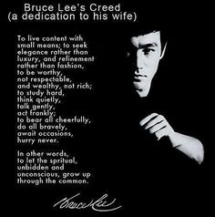 Bruce Lee Creed spritual inspirational