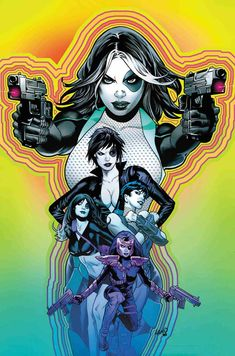 Artwork by Greg Land for the Marvel Comics book, Domino due out in Sept. Marvel Comic Character, Comic Book Characters, Marvel Characters, Comic Books Art, Book Art, Marvel Women, Marvel Girls, Comics Girls, Domino Marvel