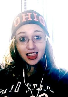 In my OSU gear and listening to fall out boy! Ready to watch the Buckeyes kick buck