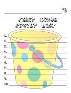 FREEBIE - 1st Grade Bucket List