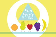 Bright Nutritionist Logo Template - This bright and cheery logo is perfect for a nutritionist or other health-promoting firm, especially one targeting children and families. The friendly fruit and vibrant colors are a great way to convey a fun view of nutrition and health.