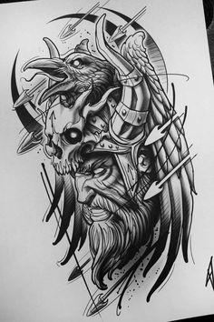 Rabe Krieger Skizze Tattoo - - Tattoo - - My best tattoo list Hades Tattoo, Norse Tattoo, Armor Tattoo, Tattoo Symbols, Zeus Tattoo, Tattoo Hand, Thai Tattoo, Maori Tattoos, Samoan Tattoo
