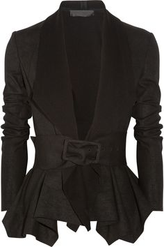 Donna KaranDraped coated-jersey jacket. YESSSSS.