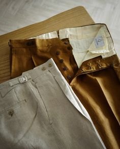 """trouser detail <3 // lastandlapel: """" Presenting our ready-to-wear trousers from our private label - Last & Lapel Napoli. The trousers in this collection are all handmade with the best fabrics, featuring classic Neapolitan style. For more details, email us at..."""