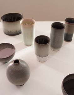 Karin Blach Nielsen #stoneware #collection, 2014 Stoneware, Objects, Ceramics, Collection, Ceramica, Pottery, Ceramic Art, Porcelain, Ceramic Pottery