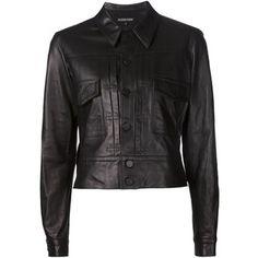 Alexandre Plokhov cropped leather jacket