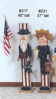Uncle Sam & Lady Liberty Pole People, Patriotic & 4th of July Crafts