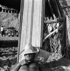 Beach Bums in San Onofre, California by Loomis Dean - LIFE Magazine, August 1950