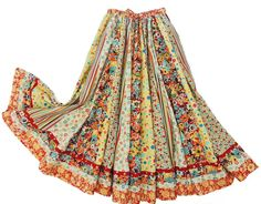 Long Panel Gypsy Patchwork Skirt