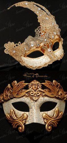 Piccola Originale Maschera veneziane per Carnevale ballo in maschera Occhi Maschera Marrone
