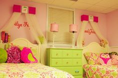 Twins+Sisters+Bed+Canopy+Crown+Princess+Matching+by+SoZoeyBoutique,+$79.95.    ** IDEA FOR MY GIRLS ROOM **