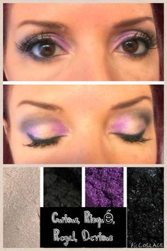 Playing with Pigments! Pigments: Curious, Risque, Regal & Devious Liner: Precision Perfect Lashes: 3D Mascara www.thicklonglashes.com