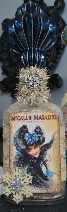 Christmas, Winter Altered Bottle
