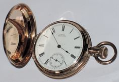 A.W. Co. Waltham 1883 Ladies Hunter Pocket Watch ~ 14K Rose Gold Filled