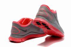 newest 20121 85f35 Damen Nike Free 4.0 V2 Schuhe Charcoal Wassermelone-Rot Nike Free Run 2,  Nike