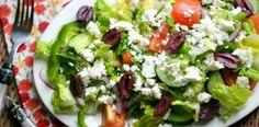 Simple Weight Watchers Greek Salad - 7 Points Plus Per Serving - Serves 4