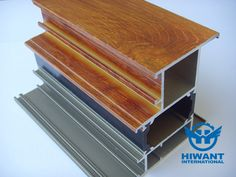 Wood grain finished machining heat-insulated aluminium profile for windows and doors.