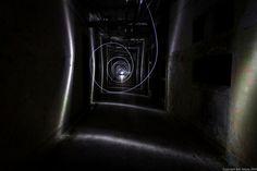 Light painting in a dark hallway of an abandoned building. Dark Hallway, Abandoned Buildings, Light Painting, Darth Vader, Photography, Photograph, Fotografie, Fotografia, Photoshoot