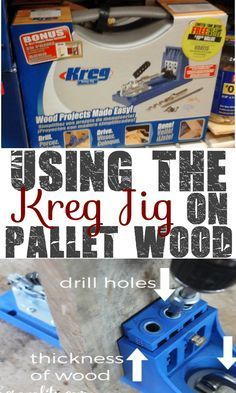 Using the Kreg Jig With Pallet Wood