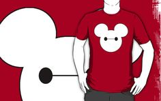 Mickey Mouse dressed as Baymax from Big Hero 6 t-shirt by My heart has ears. Available in Women's, Men's and Children's sizes as well! In a variety of colors and styles! Disney 2015, Disney Time, Run Disney, Disney Stuff, Disney Mickey, Disneyland Vacation, Disney World Vacation, Disney Vacations, Disney Clothes
