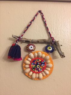 Nazarlık, nazar, amulet, felt, gargalak, driftwood, felt, design, ig:_esencan