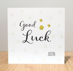 Personalised Good Luck Cards  Good Luck Cards To Print