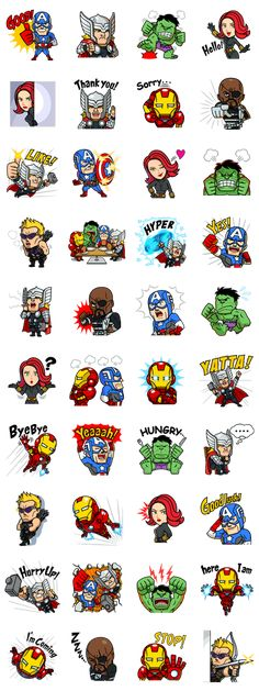 All your favorite MARVEL superheroes like you've never seen them before. Power up your chats with these cutesy stickers! Bullet Stickers, Marvel Room, Marvel Paintings, Best Friend Drawings, Mini Drawings, Superhero Poster, Avengers, Cute Clipart, Marvel Wallpaper