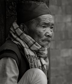 A old man lost in his world Bhakatapur,nepal