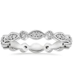 18K White Gold Tiara Eternity Diamond Ring (3/8 ct. tw.) from Brilliant Earth ...all I need in this life of sin
