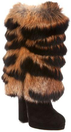Casadei ~ Fur Boot