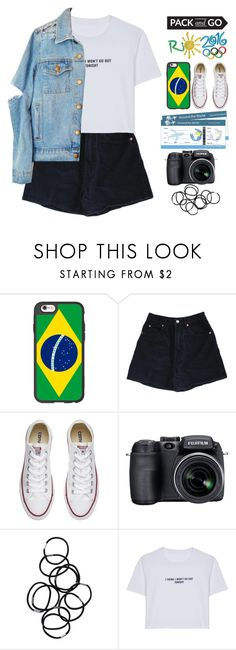 """""""Pack and Go: Rio"""" by grunge-alien ❤ liked on Polyvore featuring Casetify, Converse, Fujifilm, Monki, WithChic, grungealienpolyvore and grungestopset"""
