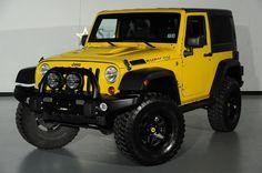 Custom yellow Jeep Wrangler by Starwood Motors