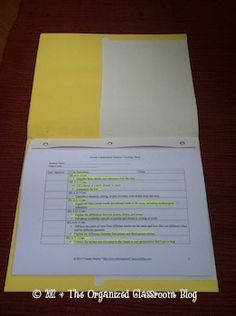 Setting Up Your Student CCSS Data Binders - The Organized Classroom Blog - Super explanation!!
