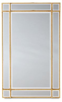 """22""""x36"""" Inlay Frame Mirror, Gold/Clear"""