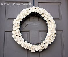 Another simple wreath. This would be cute as red, white and blue, too. Or a few bright colors for summer.