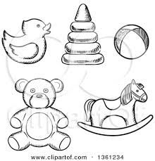 image result for sketches of baby toys