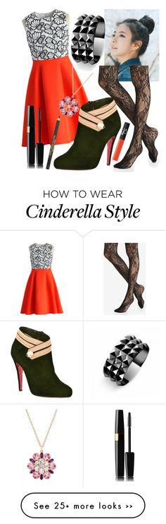 """""""Mulan First Date"""" by abby-deaton on Polyvore featuring pinkage, Express, Chicwish, Christian Louboutin, Waterford, NARS Cosmetics and Estée Lauder"""
