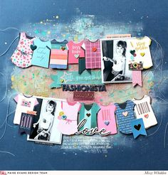 Paige Evans DT Project - Pick-Me-Up collection for Pink Paislee; Vicki Boutin acrylic paints, Shimmerz Paints & Heidi Swapp Gold Color Shine on background
