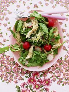 Radijs makreel salade met sesamdressing