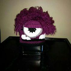 Evil Minion Beenie Evil Minions, Knitting, Crochet, Projects, Crochet Hooks, Log Projects, Tricot, Breien, Crocheting